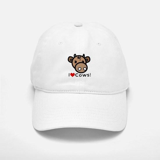 I Love Cows Baseball Baseball Cap