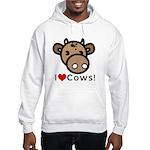 I Love Cows Hooded Sweatshirt