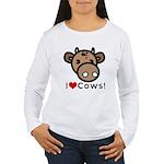 I Love Cows Women's Long Sleeve T-Shirt