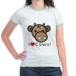 I Love Cows Jr. Ringer T-Shirt