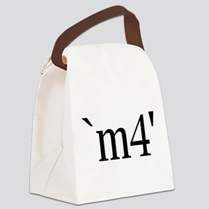 `m4' Canvas Lunch Bag
