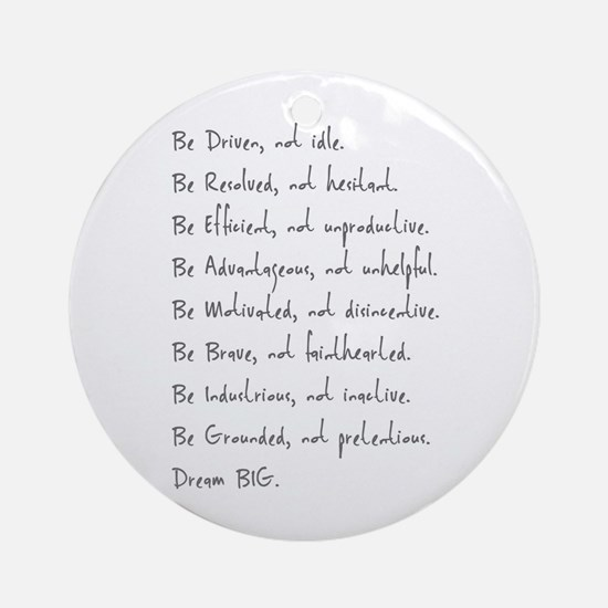 Be Ornament (Round)