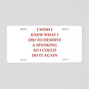 spanking Aluminum License Plate