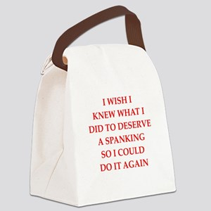 spanking Canvas Lunch Bag
