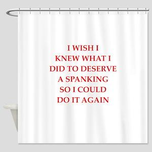spanking Shower Curtain
