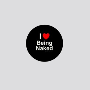 Being Naked Mini Button