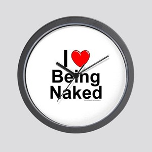 Being Naked Wall Clock