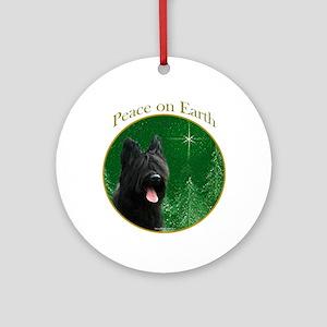 Briard Peace Ornament (Round)