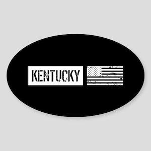 U.S. Flag: Kentucky Sticker (Oval)