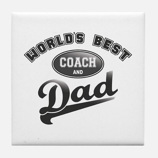 Best Coach/Dad Tile Coaster