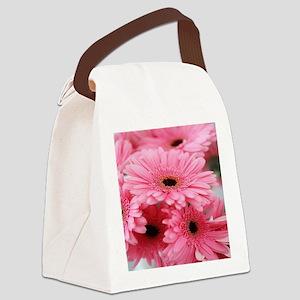 Pink Gerbera Daisies Canvas Lunch Bag