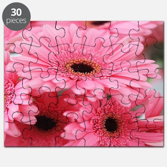 Pink Gerbera Daisies Puzzle