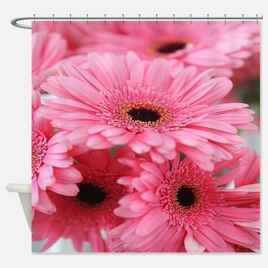 Pink Gerbera Daisies Shower Curtain