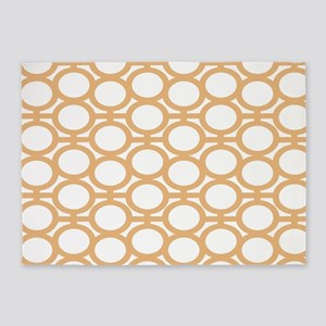 Butterscotch Bubble Eyelets 5'x7'Area Rug