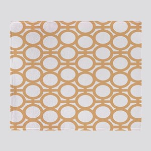 Butterscotch Bubble Eyelets Throw Blanket