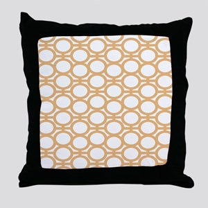 Butterscotch Bubble Eyelets Throw Pillow
