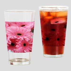 Pink Gerbera Daisies Drinking Glass