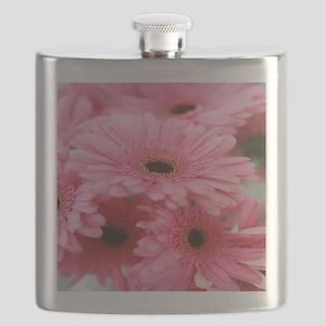 Pink Gerbera Daisies Flask