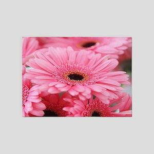 Pink Gerbera Daisies 5'x7'Area Rug