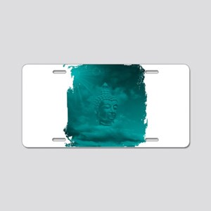 buddha in blue Aluminum License Plate