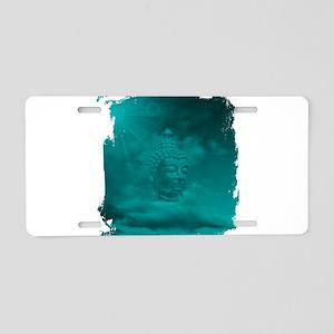 buddha in blue Aluminum License Plate
