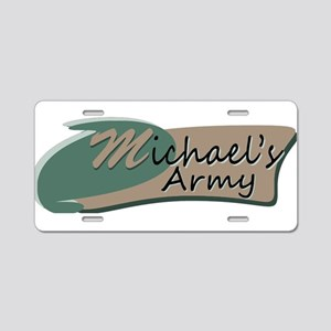 Michaels Army Logo Aluminum License Plate