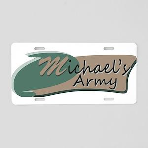 Michaels Army Logo Aluminum License Plate