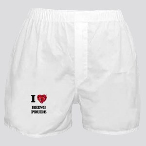 I Love Being Prude Boxer Shorts
