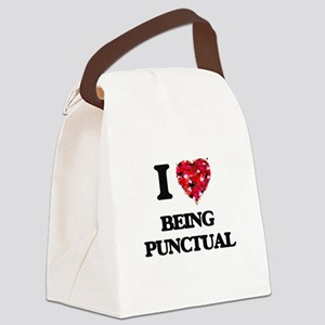 I Love Being Punctual Canvas Lunch Bag