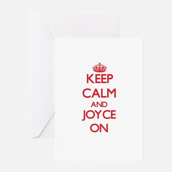 Keep Calm and Joyce ON Greeting Cards