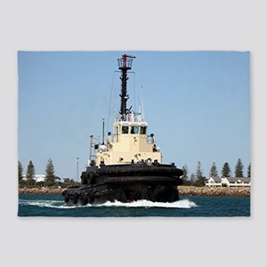 Tug Boat Tarpan, Outer Harbor 5'x7'Area Rug