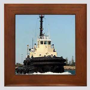 Tug Boat Tarpan, Outer Harbor Framed Tile