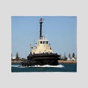 Tug Boat Tarpan, Outer Harbor Throw Blanket