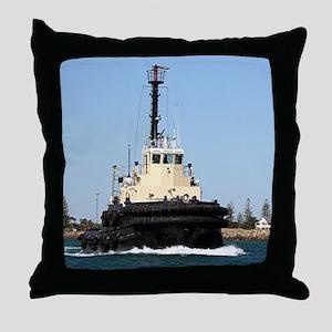 Tug Boat Tarpan, Outer Harbor Throw Pillow
