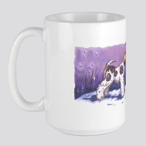 Wire Fox Winter Large Mug