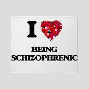 I Love Being Schizophrenic Throw Blanket