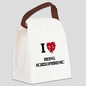 I Love Being Schizophrenic Canvas Lunch Bag
