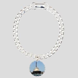 Tug Boat Tarpan, Outer H Charm Bracelet, One Charm