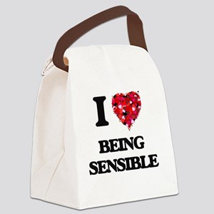 I Love Being Sensible Canvas Lunch Bag