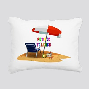 Retired Teacher, Beach S Rectangular Canvas Pillow