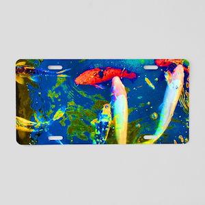 Blue Fish Aluminum License Plate
