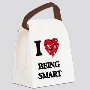 I love Being Smart Canvas Lunch Bag