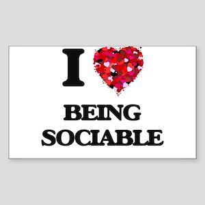 I love Being Sociable Sticker