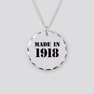 Made in 1918 Necklace Circle Charm