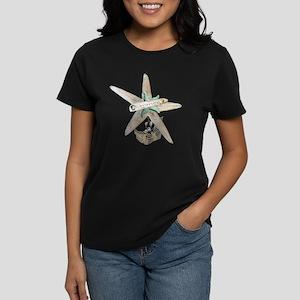 Trendy Starfish and Seashells Women's Dark T-Shirt