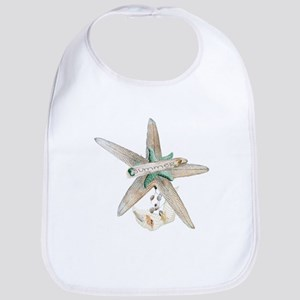 Trendy Starfish and Seashells Bib