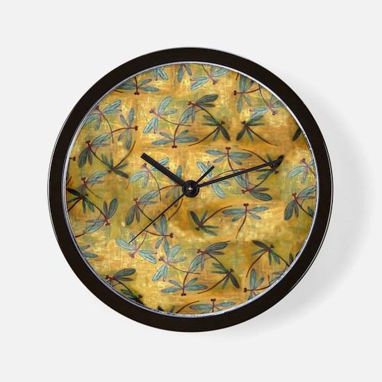 Dragonfly Haze Cloud Wall Clock