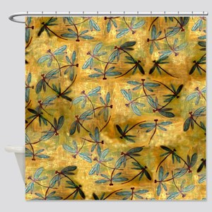 Dragonfly Haze Cloud Shower Curtain