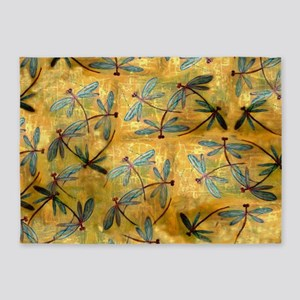 Dragonfly Haze Cloud 5'x7'Area Rug