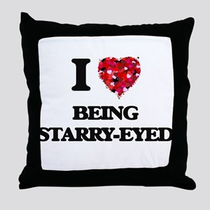 I love Being Starry-Eyed Throw Pillow